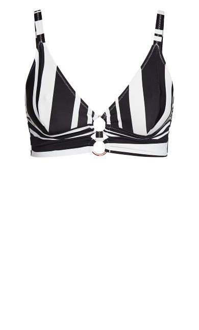 Amara Print Bikini Top - black