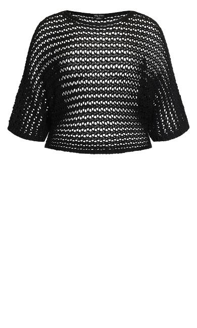Cool Crochet Top - black