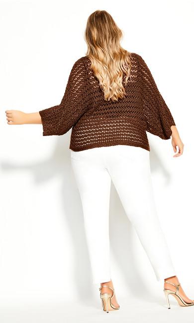 Cool Crochet Top - mink