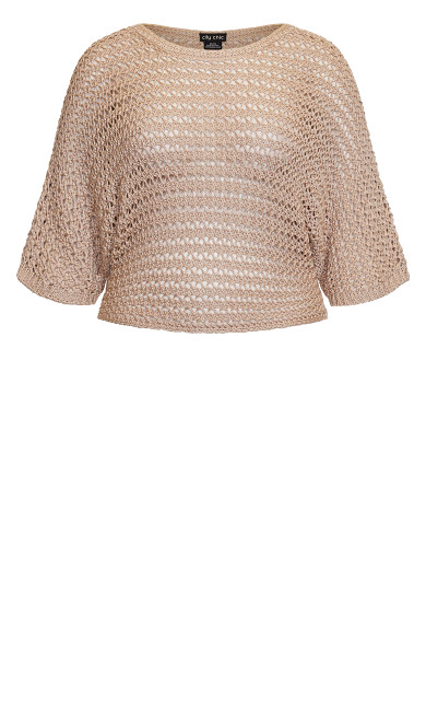 Cool Crochet Top - sand