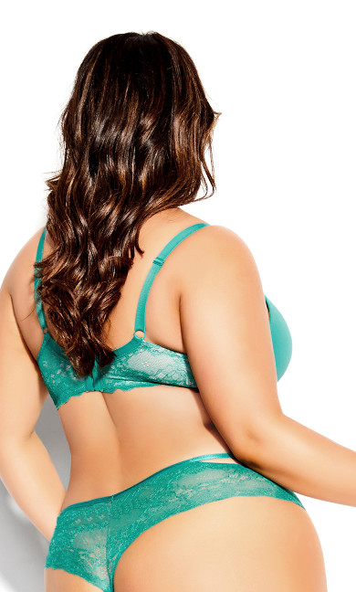 Dita Strappy Push Up Bra - jade