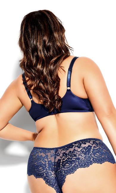 Sexy Glam Brazilian Brief  - midnight blue