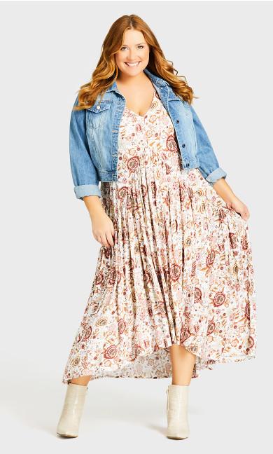 Val Print Dress - toffee