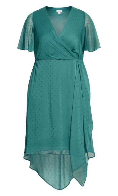 Leah Flutter Dress - turquoise