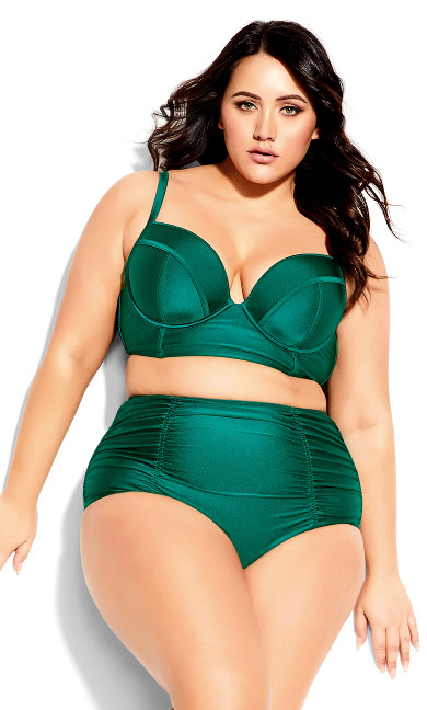 Plus Size Grenada Underwire Top - emerald