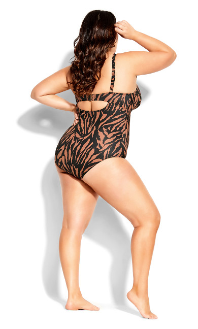 Cancun Underwire 1 Piece - tiger print