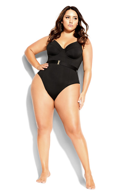 Lily Underwire 1 Piece - black