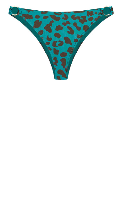 Ingrid Animal Bikini Brief - jade
