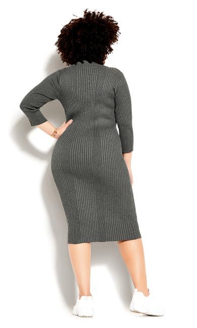 Sweater Dress - charcoal