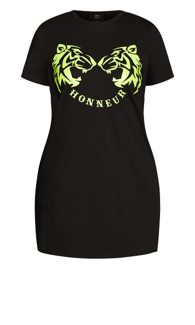 Honour Dress - neon print