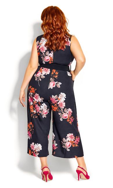 Floral Crush Jumpsuit - black