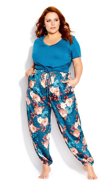 Plus Size Amy Sleep Pant - teal
