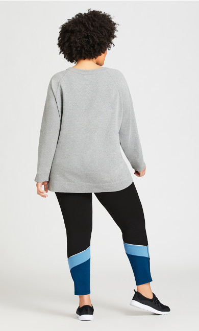 Legging Colour Block Black Blue - average