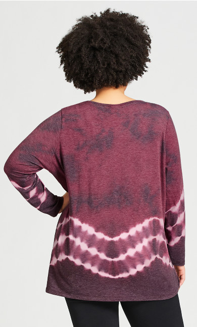 Tie Dye Top - purple