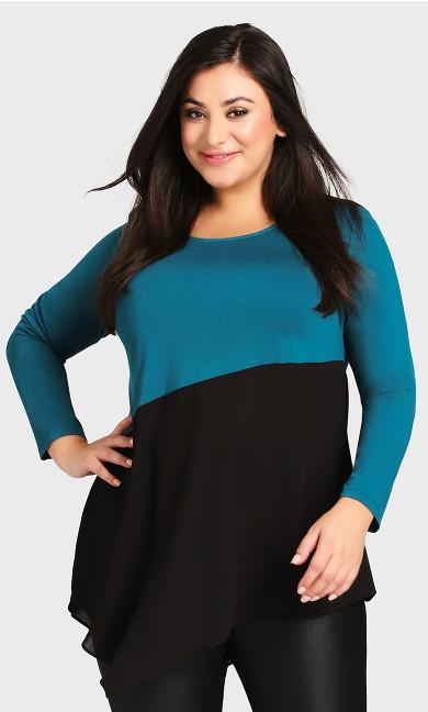 Plus Size Carla Top - teal