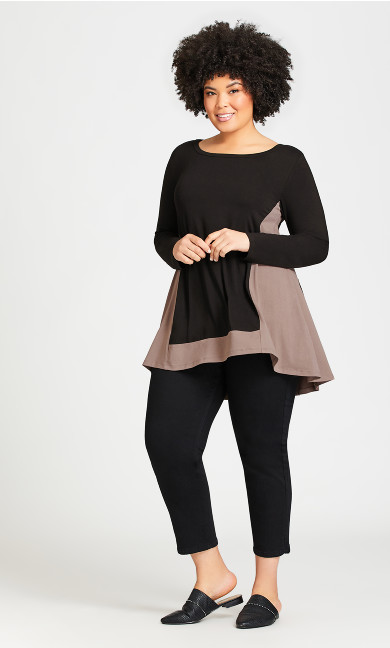 Plus Size Elsa Tunic - black