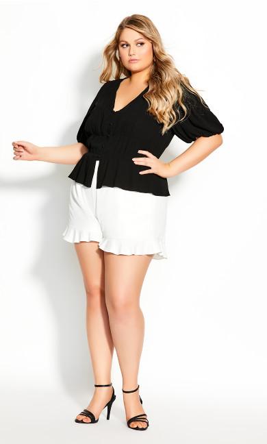Plus Size Sweet Sleeve Top - black
