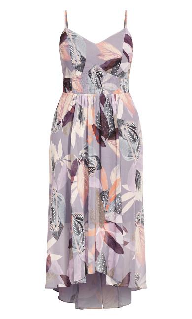 Paradise Palm Maxi Dress - mauve