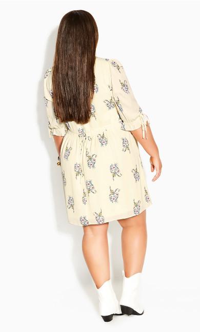 Sweet Posy Dress - yellow