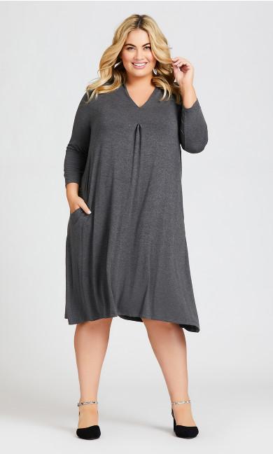 Plus Size Lylah Dress - charcoal