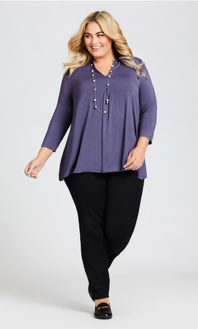 Plus Size Kyla Top - amethyst