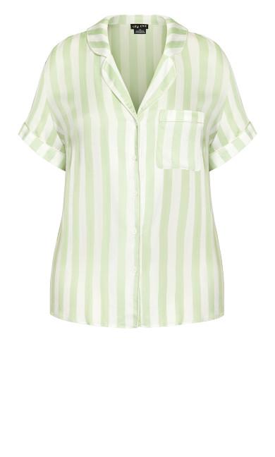 Kitty Short Sleeve Shirt - sage