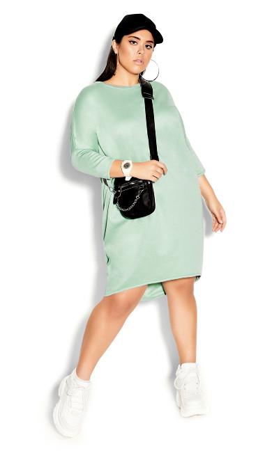 Plus Size Oversize Longline Top - mint