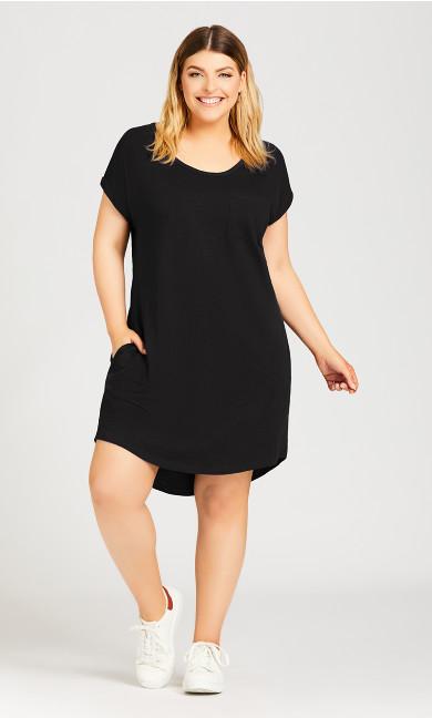 Plus Size Summer Day Dress - black