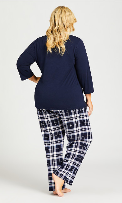Heart Sleep Top - navy
