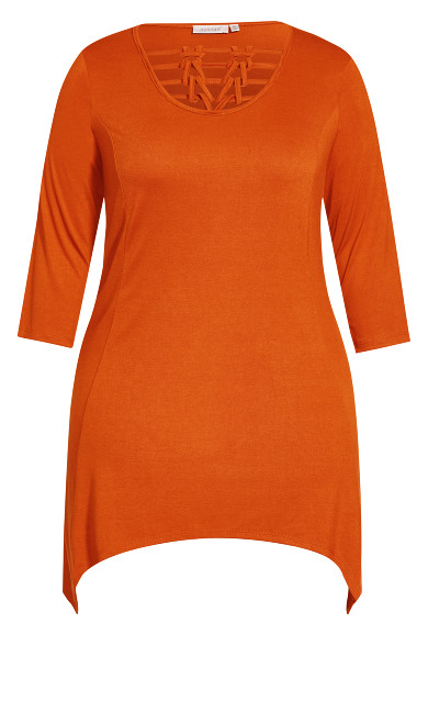 Willows Longline Tunic - spice