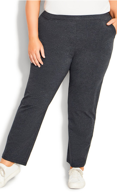 Plus Size Active Pocket Pant Charcoal tall