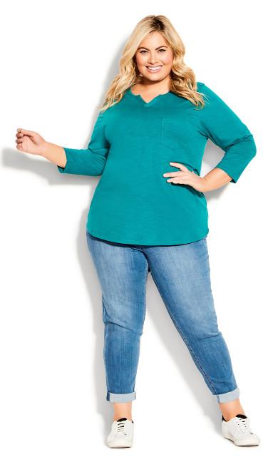 Plus Size Girlfriend Stretch Jean Light Wash - tall