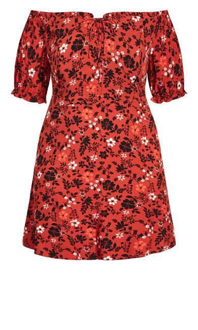 Dreamy Island Dress - rust
