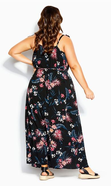 Deep Paradise Maxi Dress - black