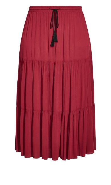 Paradise Skirt - rhubarb