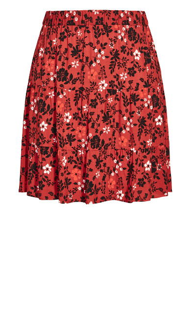 Island Ditsy Skirt - rust
