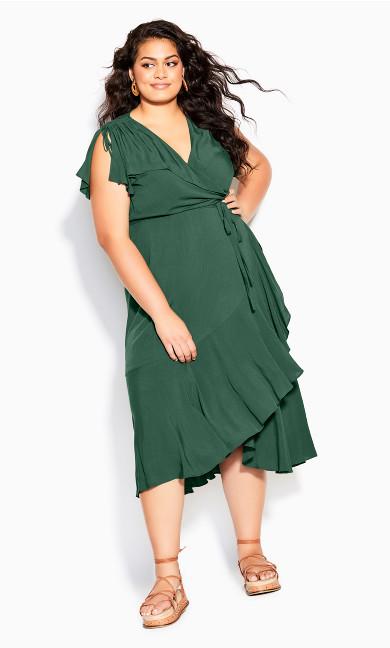 Palm Love Maxi Dress - jungle