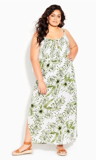 Sweet Palm Maxi Dress - ivory