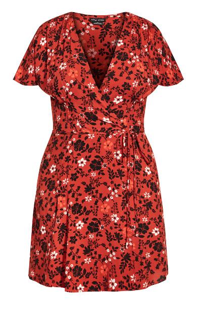 Ditsy Escape Dress - rust