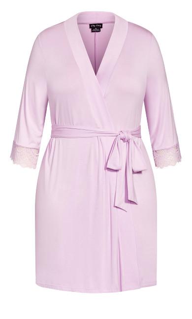 Kasia Short Robe - lilac
