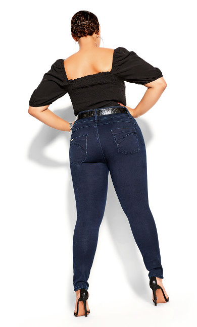 Asha Skinny Petite Denim Jean - dark denim
