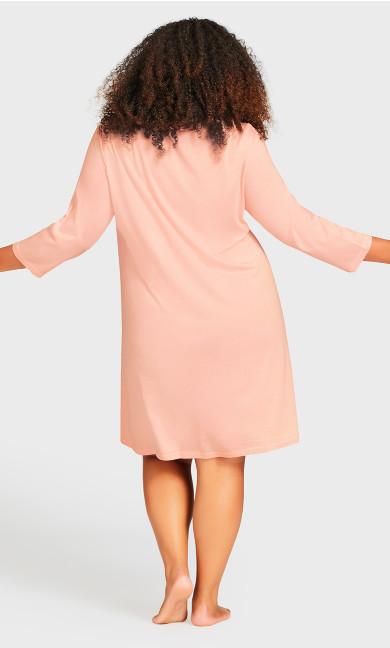 Button Up Sleep Shirt - pink
