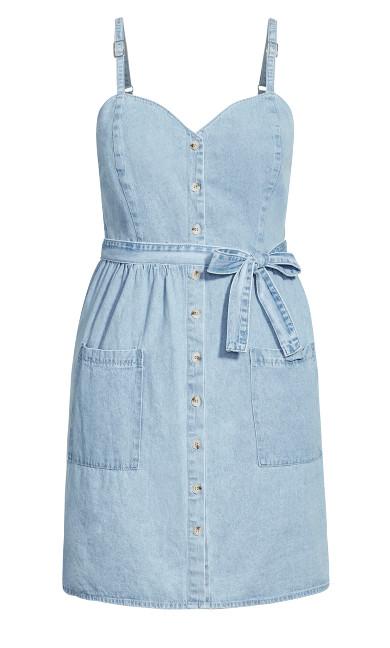 Sweet Denim Dress - light denim