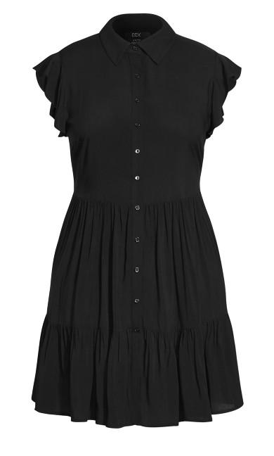 Ruffle Love Dress - black