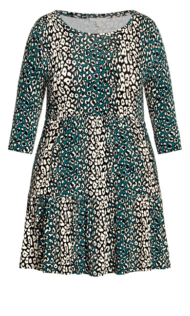 Anya Print Dress - animal