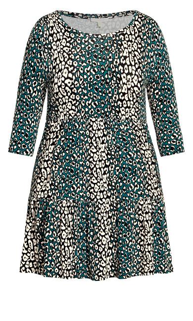 Anya Print Dress - animal