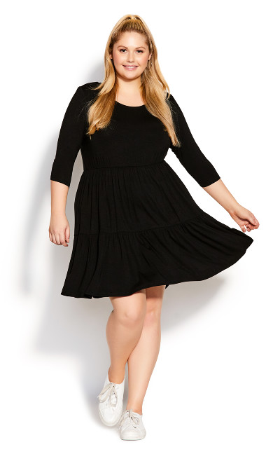 Plus Size Anya Dress - black