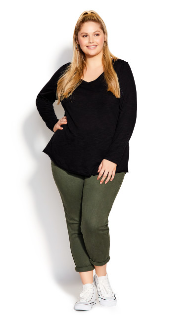 Plus Size Blake Tee - black