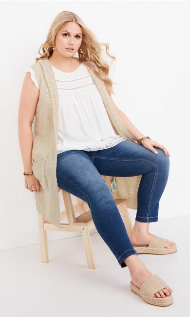 Plus Size Kelsey Vest - sand