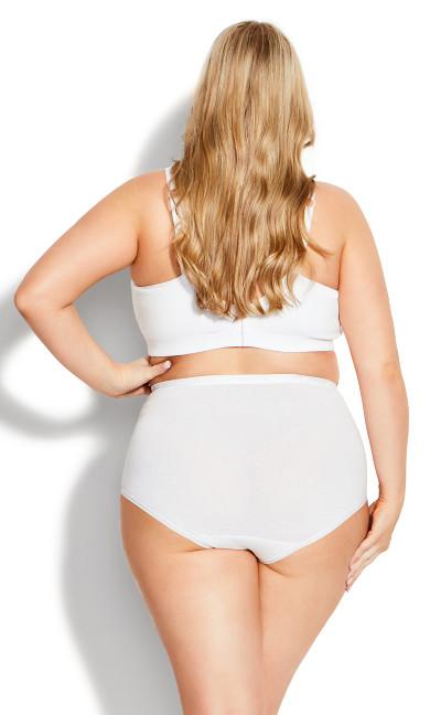 Comfort Cotton No Wire Bra - white